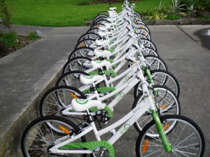 Brand new bikes ready for the kids